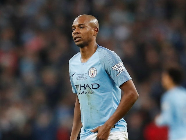 Manchester City midfielder Fernandinho in action during the EFL Cup final against Chelsea on February 24, 2019