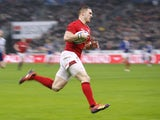 George North in action for Wales on February 1, 2019