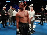 James DeGale reacts after his defeat to Chris Eubank Jr on February 23, 2019