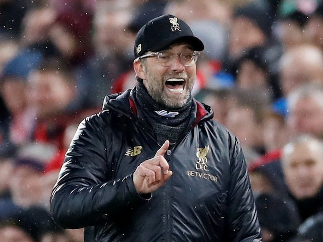 Liverpool manager Jurgen Klopp watches on during the Champions League clash with Bayern Munich on February 19, 2019