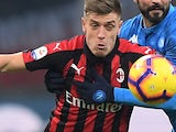 Krzysztof Piatek in action for Milan on January 26, 2019