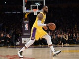 LeBron James in action for the Lakers on February 21, 2019