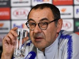 Maurizio Sarri speaks at a presser on February 20, 2019