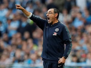 Chelsea manager Maurizio Sarri watches on during the EFL Cup final against Manchester City on February 24, 2019