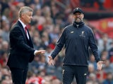 Manchester United boss Ole Gunnar Solskjaer and Liverpool counterpart Jurgen Klopp pictured on February 24, 2019