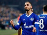 Nabil Bentaleb celebrates scoring for Schalke 04 against Manchester City in the Champions League on February 20, 2019.