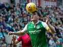 Paul Hanlon in action for Hibernian on April 21, 2018