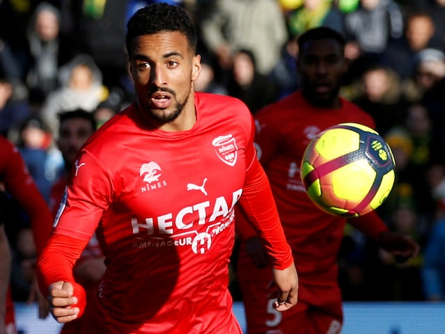 Nimes attacker Rachid Alioui in action against Nantes in February 2019