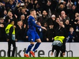 Chelsea midfielder Ross Barkley celebrates scoring during his side's Europa League clash with Malmo on February 21, 2019