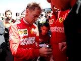 Sebastian Vettel pictured on February 18, 2019