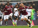 Aston Villa midfielder Jack Grealish celebrates scoring against Derby County on March 2, 2019