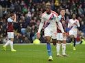 Crystal Palace winger Wilfried Zaha celebrates scoring against Burnley on March 2, 2019