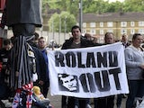 Charlton Athletic supporters protest against owner Roland Duchatelet in April 2017