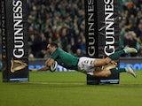 Ireland's Dave Kilcoyne goes over in November 2017