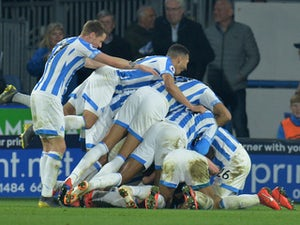 Late Steve Mounie strike gives Huddersfield first win since November