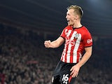 Southampton midfielder James Ward-Prowse celebrates after scoring against Fulham in the Premier League on February 27, 2019