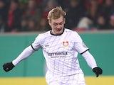 Bayer Leverkusen's Julian Brandt in action in February 2019