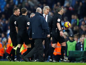 Pellegrini cannot accept penalty award after Hammers lose at City