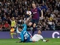 Barcelona's Ivan Rakitic scores the opening goal against Real Madrid in the Clasico on March 2, 2019