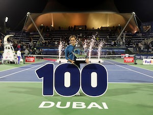 Roger Federer secures century of tour-level titles with victory in Dubai