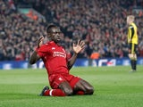 Liverpool forward Sadio Mane celebrates after scoring against Watford in the Premier League on February 27, 2019