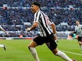 Ayoze Perez celebrates scoring for Newcastle United on March 9, 2019