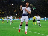 Tottenham Hotspur striker Harry Kane celebrates scoring against Borussia Dortmund in their Champions League clash on March 5, 2019