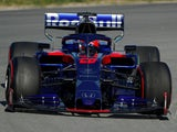 Daniil Kvyat during testing on February 27, 2019