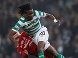 Dedryck Boyata pictured playing for Celtic in December 2018