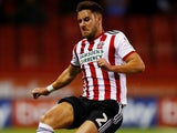 George Baldock in action for Sheffield United on September 19, 2018