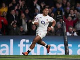 Manu Tuilagi in action for England on March 9, 2019