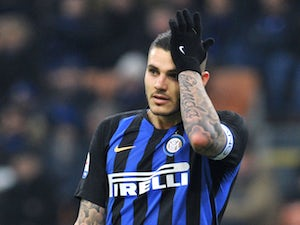 Mauro Icardi in action for Inter Milan in February 2019