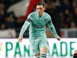 A suspicious Mesut Ozil in action for Arsenal on March 7, 2019