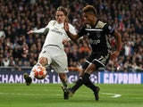 Real Madrid's Luka Modric and Ajax's David Neres in action in their Champions League clash on March 5, 2019