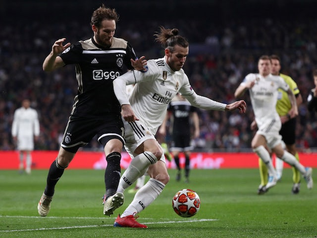 Real Madrid's Gareth Bale in action with Ajax's Daley Blind in the Champions League on March 5, 2019