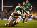 Ireland's Robbie Henshaw pictured in February 2019