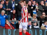 Sam Clucas sees red for Stoke City on March 9, 2019