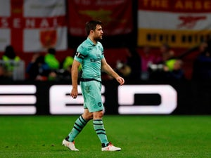 Sokratis Papastathopoulos sees red for Arsenal during their Europa League clash with Rennes on March 7, 2019