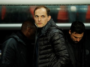 Paris Saint-Germain head coach Thomas Tuchel looks dejected during his side's Champions League defeat to Manchester United on March 6, 2019