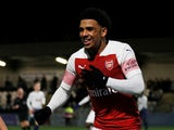 Xavier Amaechi in FA Youth Cup action for Arsenal in January 2019