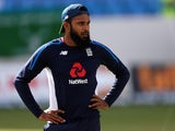 Adil Rashid during an England nets session on January 31, 2019