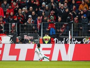 Alassane Plea celebrates scoring for Borussia Monchengladbach in January 2019