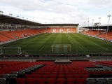 A general shot of Blackpool stadium Bloomfield Road