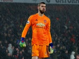 Manchester United goalkeeper David de Gea reacts after making a mistake in his side's Premier League clash with Arsenal on March 10, 2019