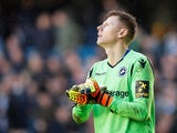 Millwall goalkeeper David Martin reacts after conceding against Brighton on March 17, 2019