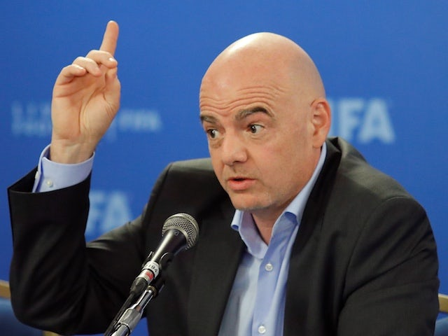 Gianni Infantino pictured on February 27, 2019