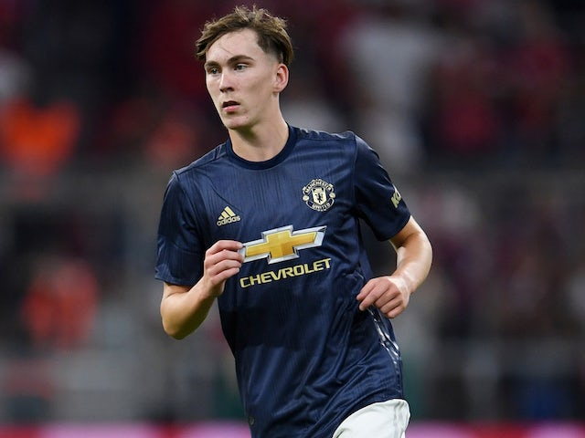 James Garner in action for Manchester United in pre-season on August 5, 2019