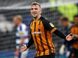 Jarrod Bowen celebrates scoring for Hull City on March 16, 2019