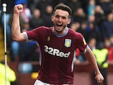 Aston Villa's John McGinn celebrates scoring their second goal against Middlesbrough on March 16, 2019