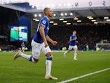 Richarlison celebrates scoring Everton's opener against Chelsea in the Premier League on March 17, 2019